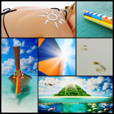 travel collage: Beautiful holiday pictures