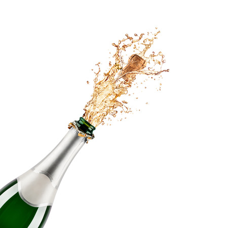 alcohol bottles: Beautiful picture of a bottle of champagne