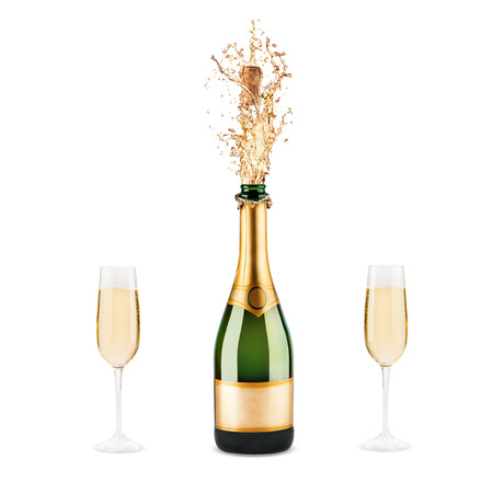 Beautiful picture of a bottle of champagne photo