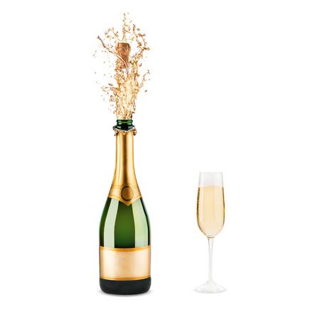 Beautiful picture of a bottle of champagne Stock Photo - 26890114