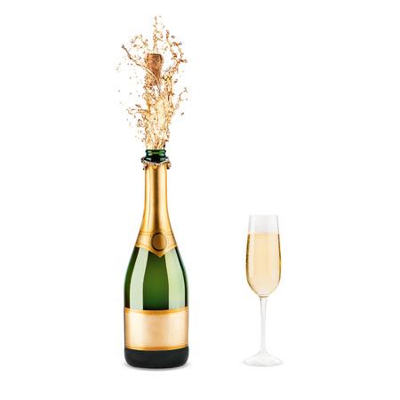 Hermosa imagen de una botella de champán Foto de archivo