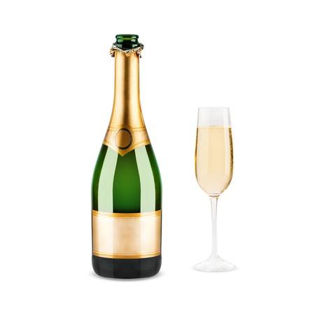 Mooi beeld van een fles champagne