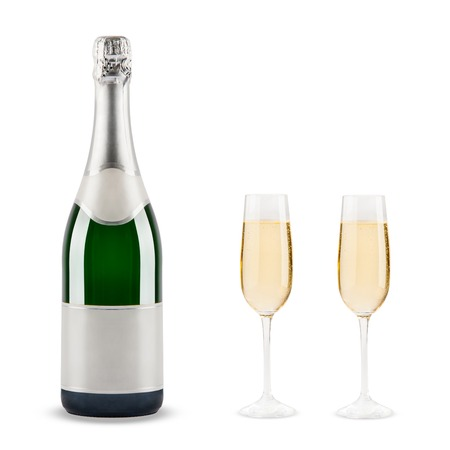 Schönes Bild von einer Flasche Champagner