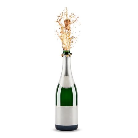 botella champagne: Hermosa imagen de una botella de champ�n Foto de archivo