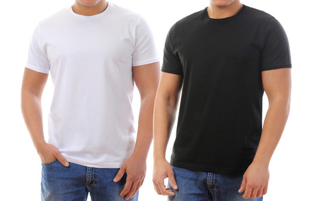 young man in a T-shirt  isolated on white background