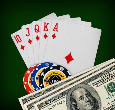The combination of playing cards poker casino photo