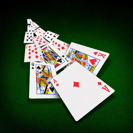 De combinatie van speelkaarten poker casino