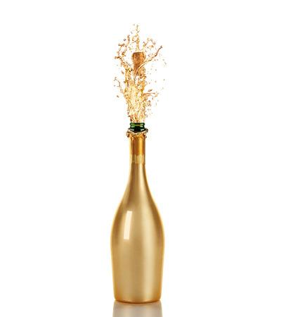 Mooi beeld van een fles Champagne Stockfoto