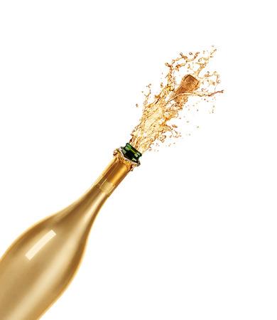 シャンパンのボトルの美しい画像