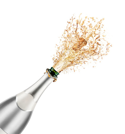 popping the cork: Beautiful picture of a bottle of champagne