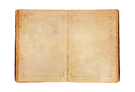 Open old book. Isolated on white background 版權商用圖片 - 33500925