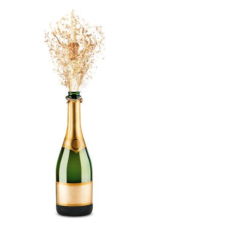 sektglas: Sch�nes Bild von einer Flasche Champagner