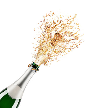 popping cork: Beautiful picture of a bottle of champagne