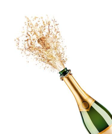 Bela foto de uma garrafa de champanhe Foto de archivo - 33741484