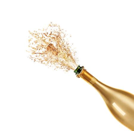 Mooie foto van een fles champagne Stockfoto - 33741488