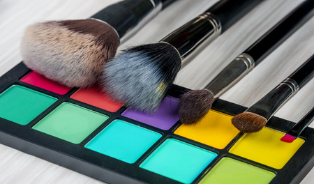 Set of professional makeup and cosmetics. on a light background isolated photo