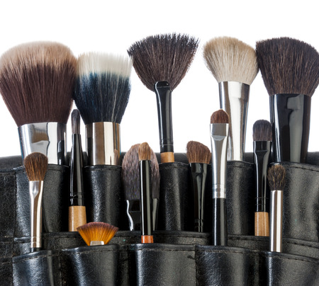 Professional make-up brush cosmetic on white background