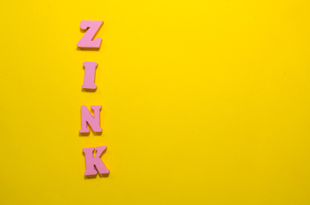 word zink with wooden letters