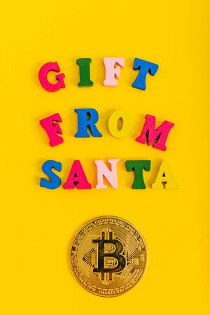 all i want for christmas is money concept. the best gift from santa from top view