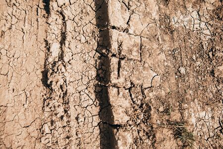 texture background of cracked earth. drought
