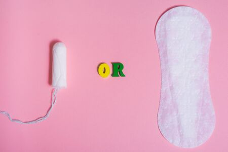 menstrual pad or tampon. the choice is yours