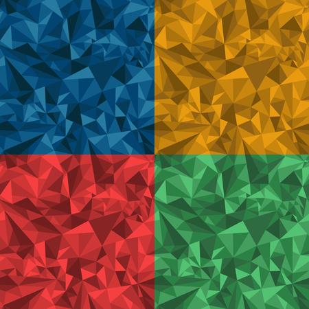 Triangular seamless geometrical pattern Ilustração