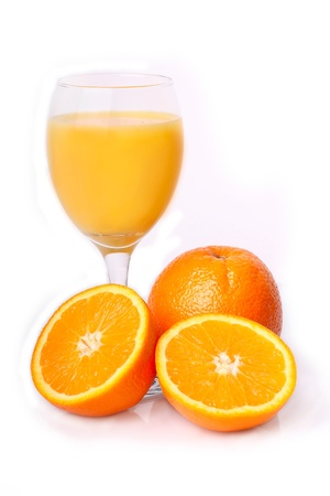 oranges with juice isolated on the white Stock Photo - 8923082