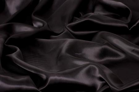 black satin fabric (landscape) photo