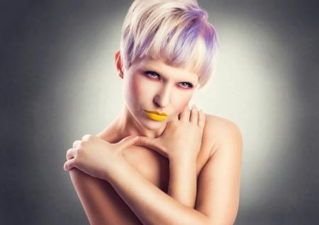 dishy: fashion portrait of sexy girl