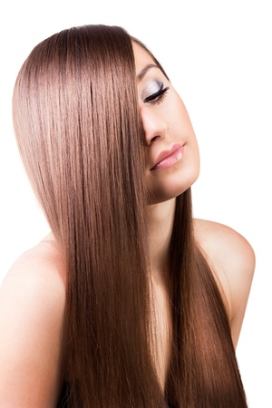 beautiful woman with natural long hair Stock Photo - 19288182