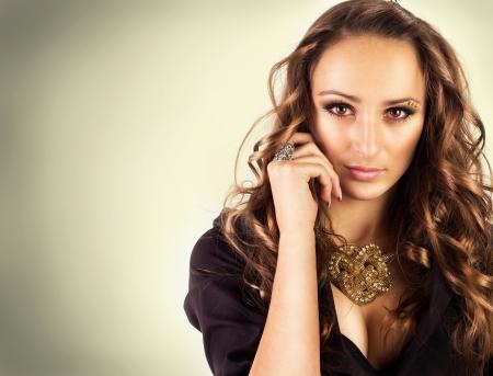 fashion portrait of beautiful girl Stock Photo