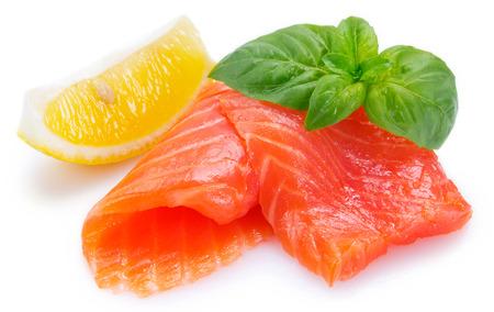 roter Fisch auf weißem Hintergrund
