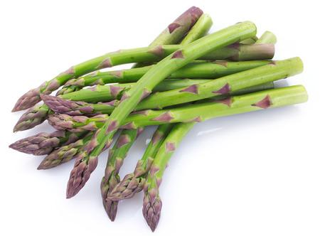 świeże szparagi na białym tle Zdjęcie Seryjne
