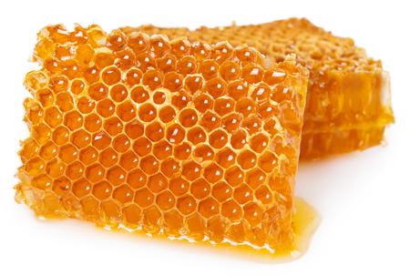 honeycomb isolated on white background Imagens