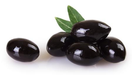 black olives isolated on white background Stock fotó