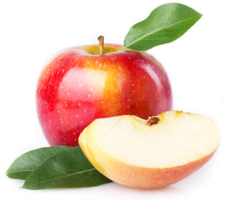 fresh apples isolated on white background 스톡 콘텐츠