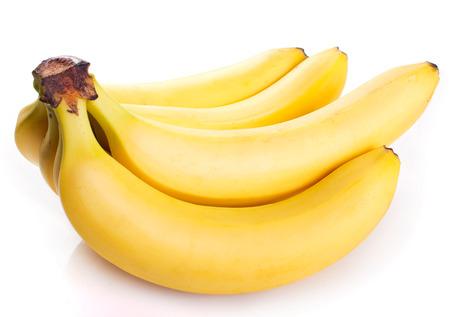 plátano fresco aislado sobre fondo blanco
