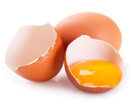 Eier isoliert auf weißem Hintergrund Standard-Bild