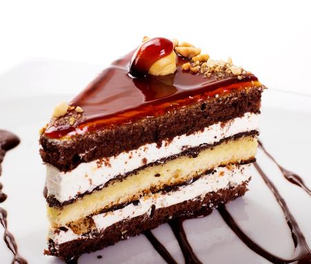 sweet cake isolated on white background