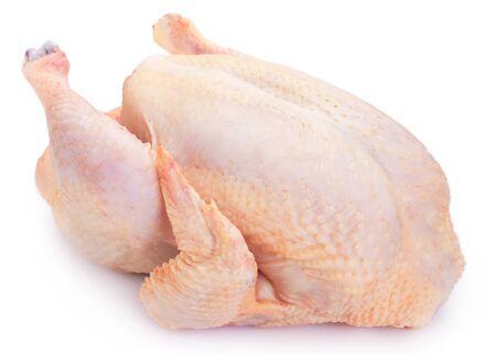 raw chicken isolated on white background Archivio Fotografico