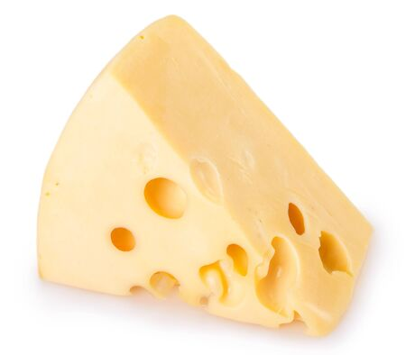 fromage isolé sur fond blanc