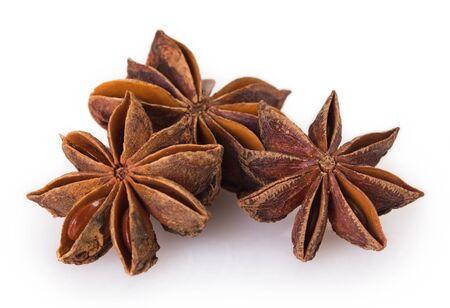 star anise isolated on white background Stockfoto