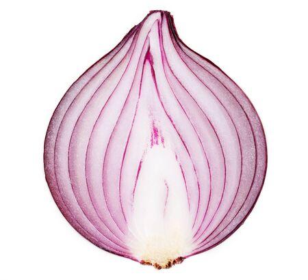 fresh onion isolated on white background