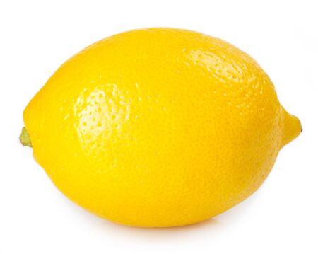 frische Zitrone auf weißem Hintergrund
