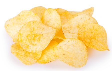 potato chips isolated on white background Reklamní fotografie - 126326681