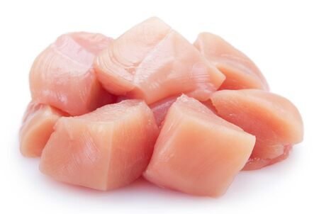 raw chicken fillet isolated on white background 版權商用圖片