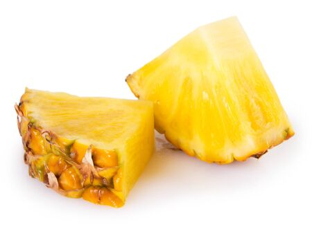 fresh pineapple isolated on white background Фото со стока