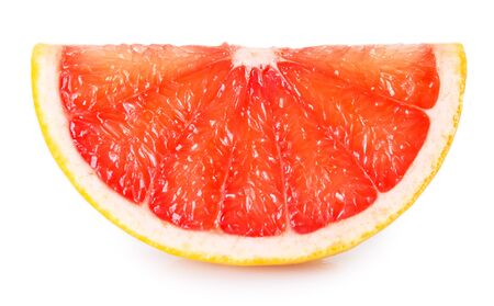 fresh grapefruit isolated on white background 免版税图像