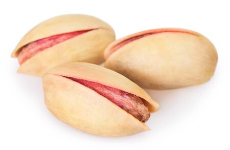pistachios isolated on white background 免版税图像