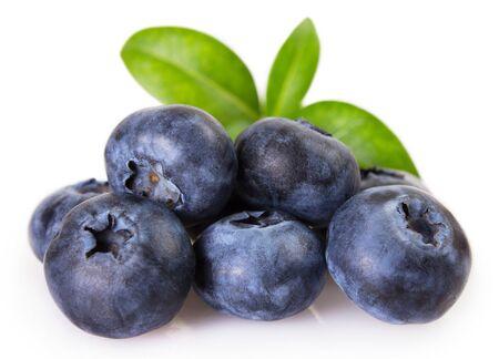fresh blueberry isolated on white background